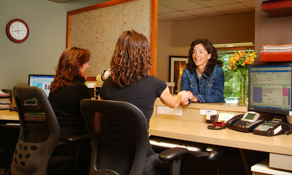 Bellevue Chiropractic Associates, front desk